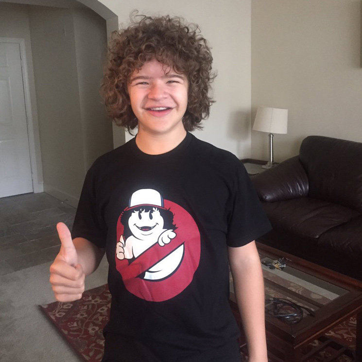'Stranger Things' Star Gaten Matarazzo Is Selling 'Ghostbusters'-Themed T-Shirts for Charity