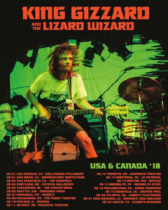 King Gizzard & the Lizard Wizard Map Out North American Tour