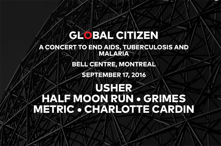 Grimes, Usher, Metric to Play Canadian Global Citizen Concert