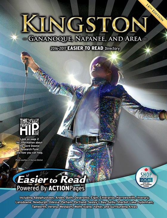 Gord Downie Is the Cover Star of a Kingston Phone Book