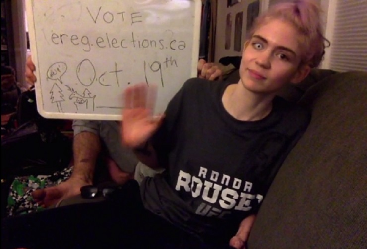 Grimes Encourages Canadians to Get Out There and Vote
