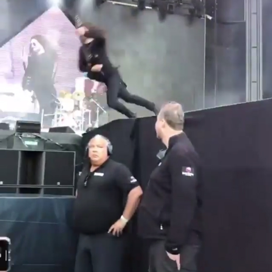 Foo Fighters Got a Dave Grohl Lookalike to Fall Off the Stage in Sweden