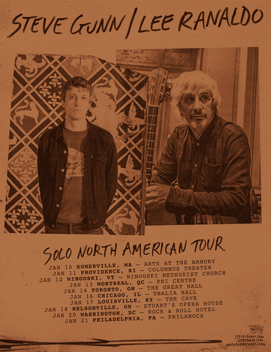 Lee Ranaldo and Steve Gunn Team Up for Co-Headlining North American Tour
