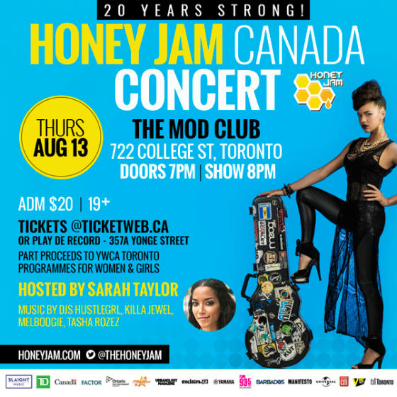 Honey Jam Canada Concert Showcase featuring Melissa Megan, Little T, Dynasti Williams Mod Club, Toronto ON, August 13