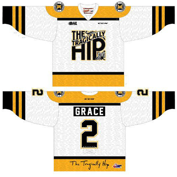 Kingston's OHL Team Will Honour the Tragically Hip with Custom Jerseys