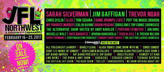 JFL NorthWest Adds Jim Gaffigan, Michelle Wolf, Colin Quinn