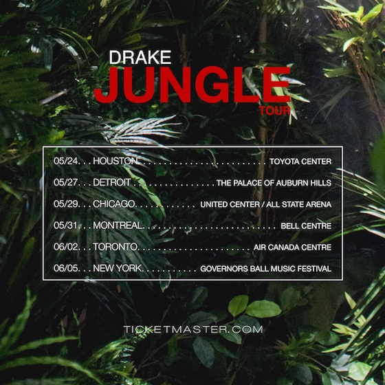 Drake Announces 'Jungle Tour' with Future