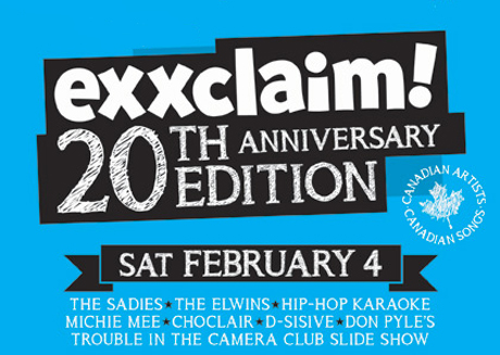 Get the Details of Exclaim!'s 20th Anniversary Concert with the Sadies, the Elwins and Members of Rural Alberta Advantage, Fucked Up and More