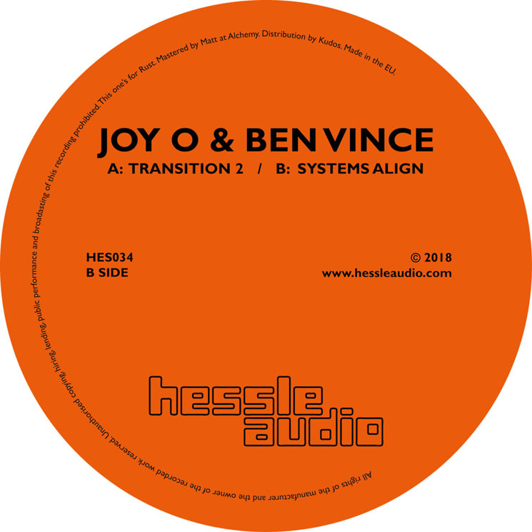 "Joy O & Ben Vince ""Transitions 2"" / ""Systems Align"""