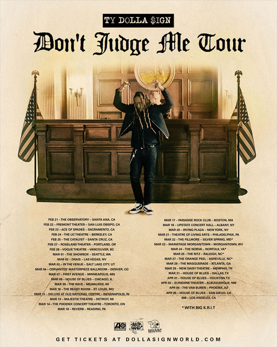 "Ty Dolla $ign Maps Out ""Don't Judge Me Tour"""