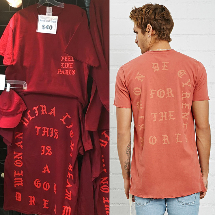 Forever 21 Rips Off Kanye West's 'Life of Pablo' Merch
