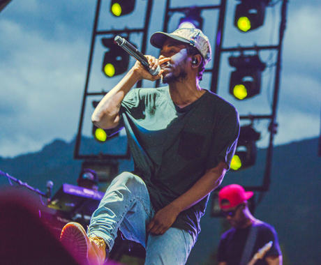 Kendrick Lamar Mt. Currie Stage, Pemberton BC, July 18