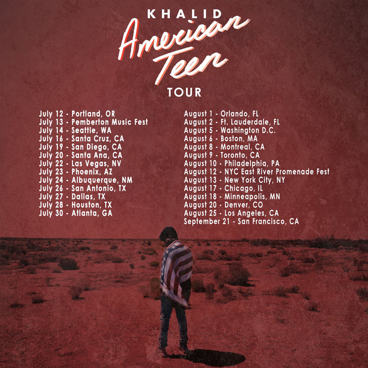 "Khalid Maps Out ""American Teen Tour"""