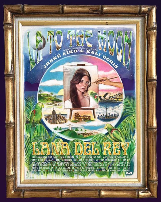 "Lana Del Rey Gets Jhené Aiko and Kali Uchis for ""LA to the Moon Tour"""