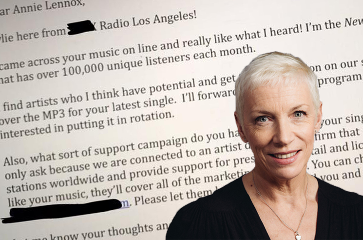 This LA Radio Station Thinks Eurythmics Singer Annie Lennox 'Has Potential'
