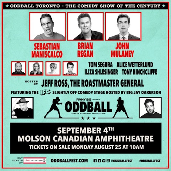 Brian Regan, Iliza Shlesinger, John Mulaney Hit Toronto on Oddball Comedy Tour