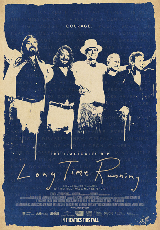 The Tragically Hip's 'Long Time Running' Gets New Trailer, Theatrical Release Date