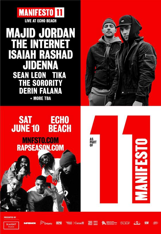 Toronto's Manifesto Festival Gets Majid Jordan, the Internet for 11th Edition