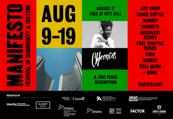 Toronto's Manifesto Festival Gets Chronixx, Charlotte Day Wilson for 2018 Edition