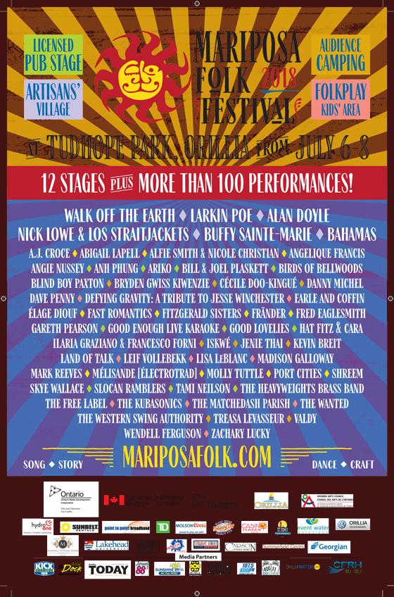 Mariposa Folk Festival Reveals 2018 Lineup