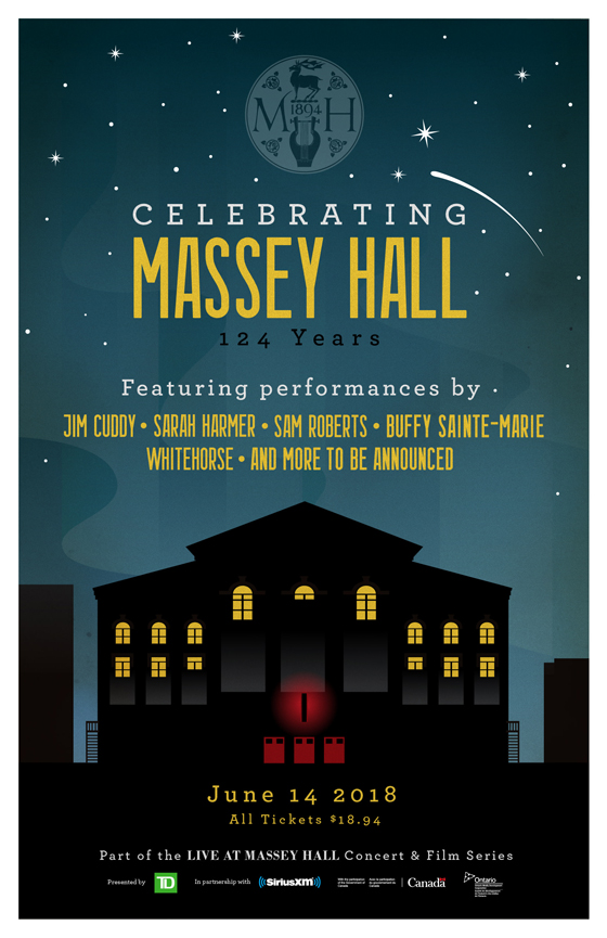 Toronto's Massey Hall Announces Anniversary Show with Jim Cuddy, Buffy Sainte-Marie, Sam Roberts