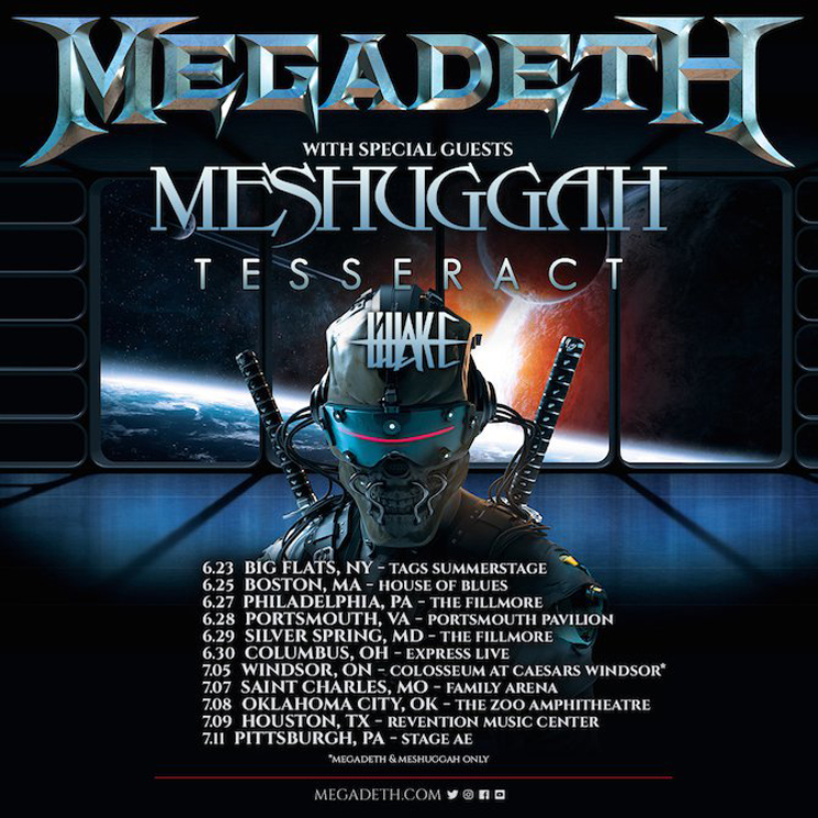 Megadeth and Meshuggah Join Forces for North American Summer Tour