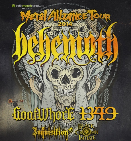 Behemoth Teaming Up With Goatwhore, 1349 for 2014 'Metal Alliance Tour'