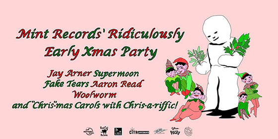 Mint Records Gets Jay Arner, Supermoon, Fake Tears for Its Ridiculously Early Xmas Party