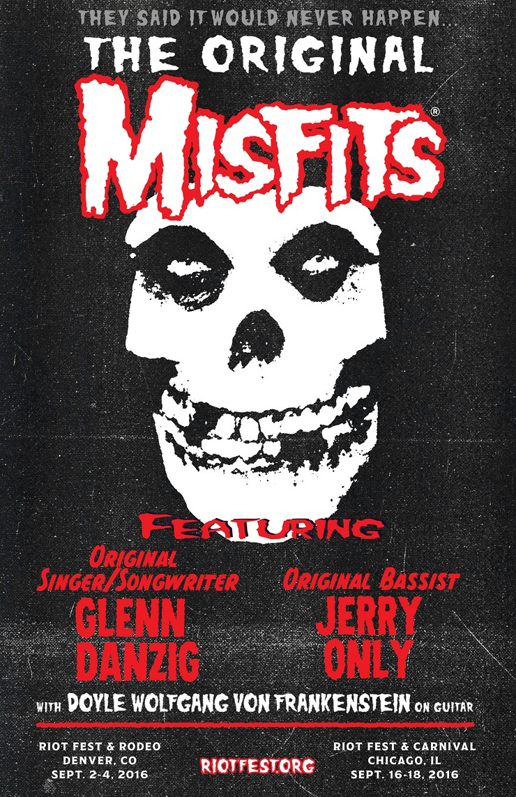 Glenn Danzig Reunites with the Misfits for First Shows in over 30 Years