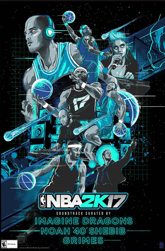 "Hear the 'NBA 2K17' Soundtrack Curated by Grimes, Noah ""40"" Shebib and Imagine Dragons"