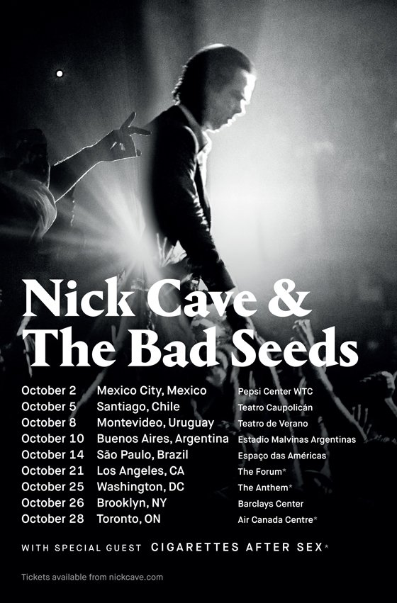 Nick Cave and the Bad Seeds Plot Fall Tour