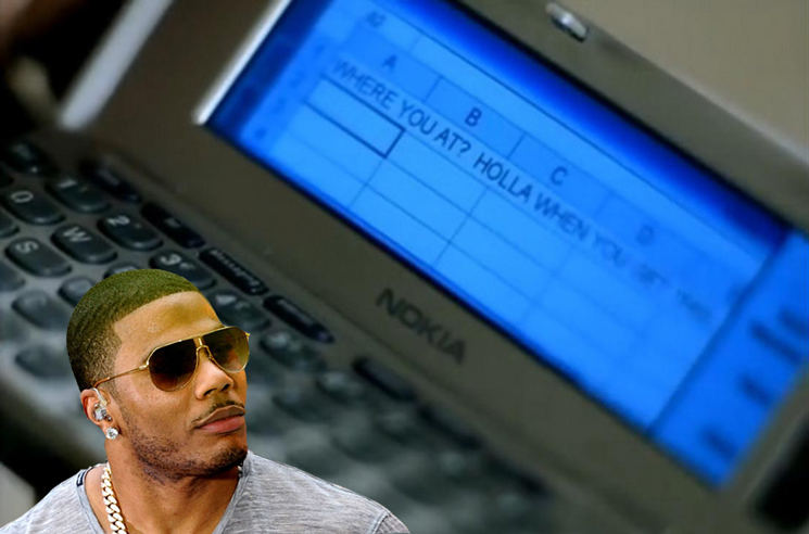 Nelly Refuses to Admit That Kelly Rowland Was Texting with an Excel Spreadsheet in the 'Dilemma' Video