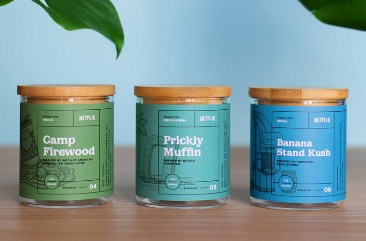 Netflix Begins Selling Its Own Strains of Weed