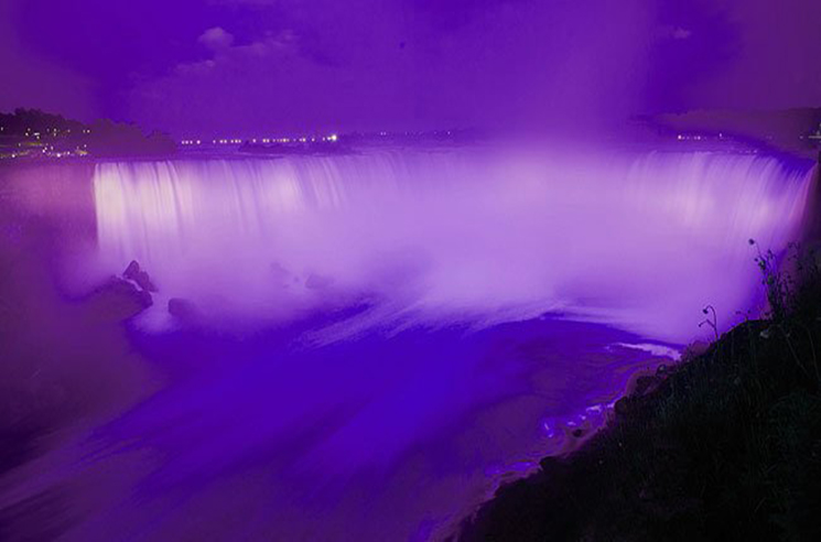 Niagara Falls Turned Purple on the Day Prince Died