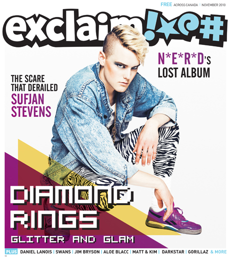 Dig Into Exclaim!'s November Issue with Diamond Rings, Sufjan Stevens, Swans, N*E*R*D, Wiz Khalifa and More