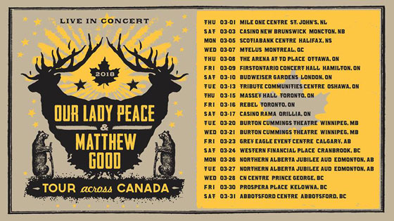 Our Lady Peace and Matthew Good Team Up for Cross-Canada Tour
