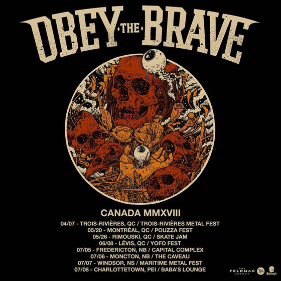 Obey the Brave Map Out Canadian Tour