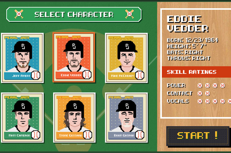 Hit Home Runs as 8-Bit Eddie Vedder in Pearl Jam's 'Let's Play Two' Videogame