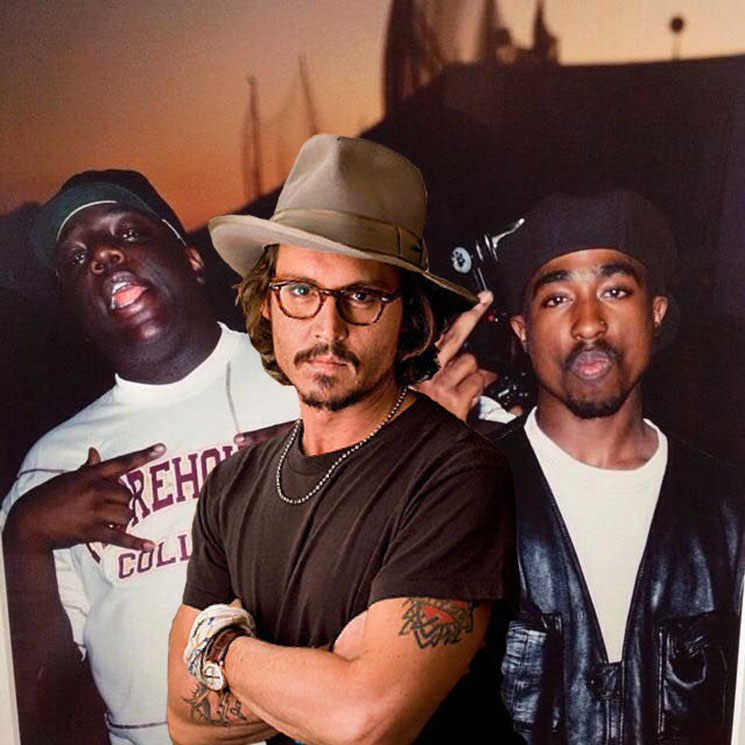Johnny Depp Will Investigate the Murders of Biggie and 2Pac in New Film