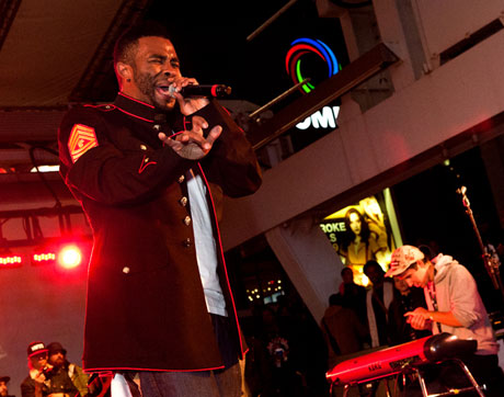 Manifesto Festival 'Live at the Square' featuring Pharoahe Monch, BadBadNotGood, Maestro Fresh Wes, Michie Mee Yonge-Dundas Square, Toronto, ON, September 23