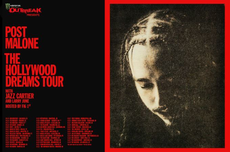 Post Malone Gets Jazz Cartier and Larry June for 'The Hollywood Dreams Tour'