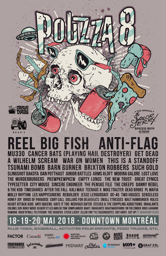 Montreal's Pouzza Fest Reveals 2018 Lineup with Reel Big Fish, Anti-Flag, Cancer Bats