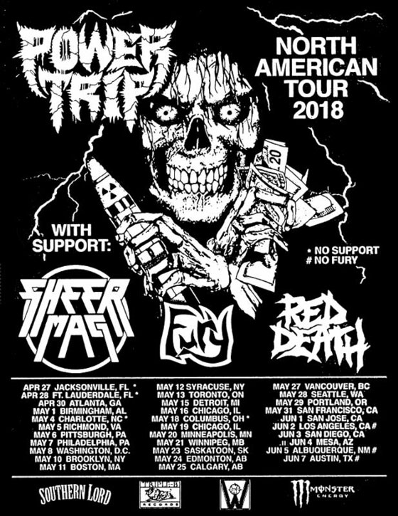 Power Trip and Sheer Mag Team Up for North American Tour