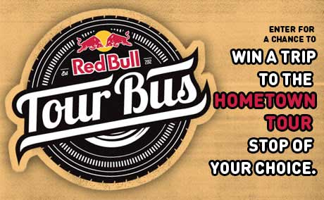 Red Bull Tour Bus Hometown Tour Returns for 2014