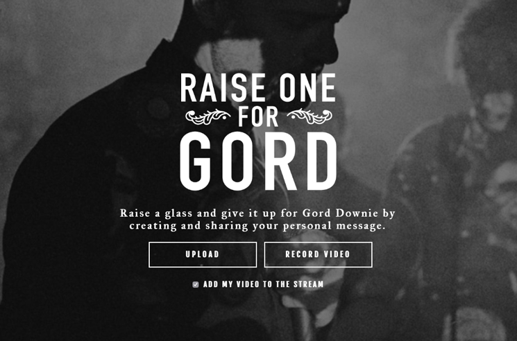 Record a Personal Message for Gord Downie with 'Raise One for Gord'