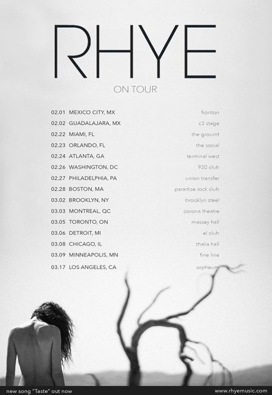 Rhye Unveil North American Tour
