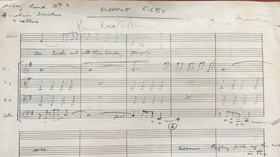 The Beatles' Score for 'Eleanor Rigby' Heads to Auction
