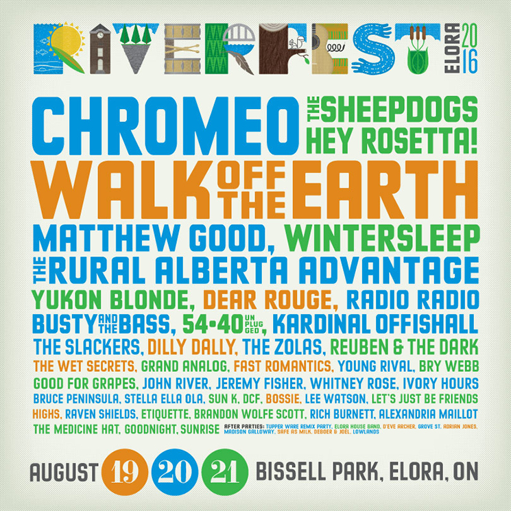 Riverfest Elora Gets Chromeo, the Sheepdogs, Hey Rosetta!, Wintersleep for 2016 Festival