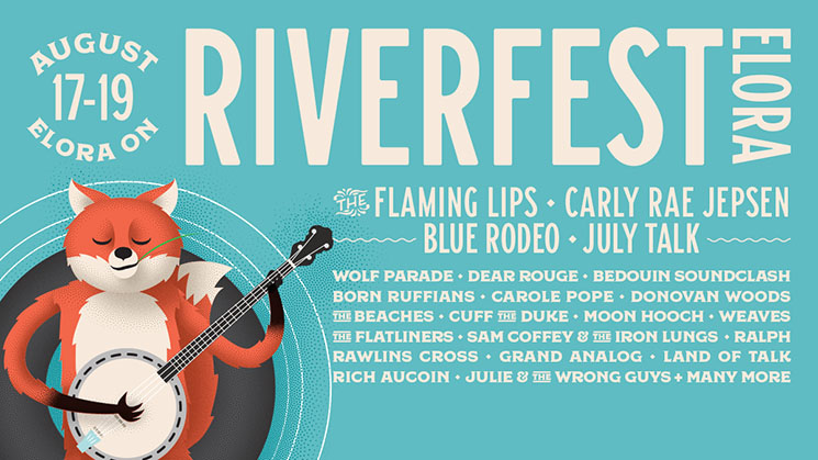 Riverfest Elora Reveals 2018 Lineup with the Flaming Lips, Carly Rae Jepsen, Blue Rodeo