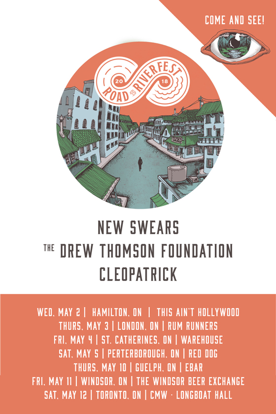 """Road to Riverfest Tour"" Gets New Swears, the Drew Thomson Foundation and Cleopatrick"